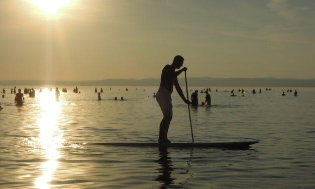 Augusztus végi SUP evezés a Balatonon