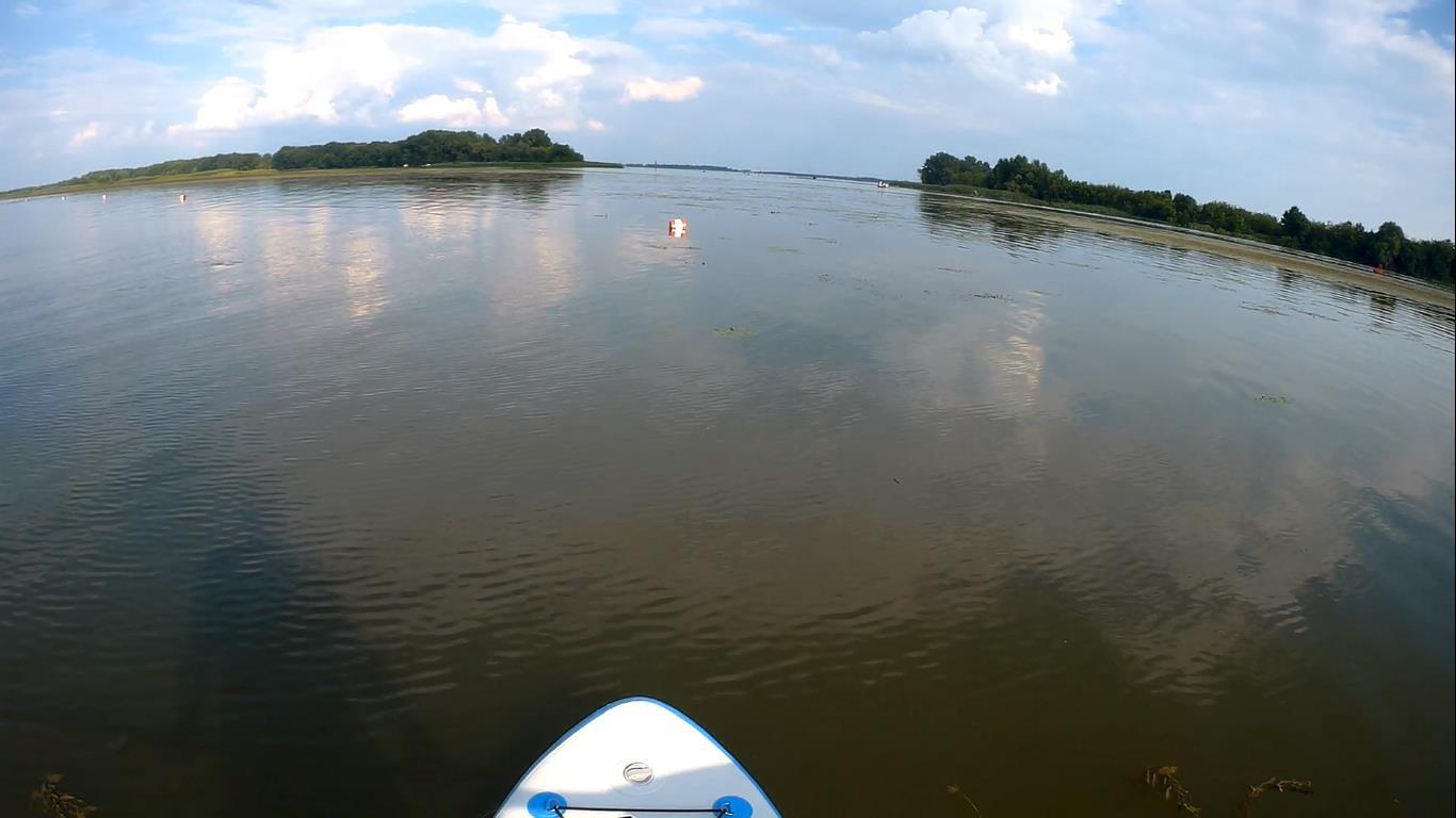 SUP a Tisza-tónál – videóval