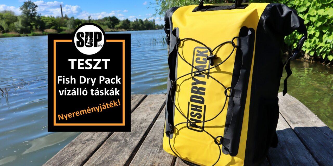 Vízálló táskák tesztje – Fish Dry Pack