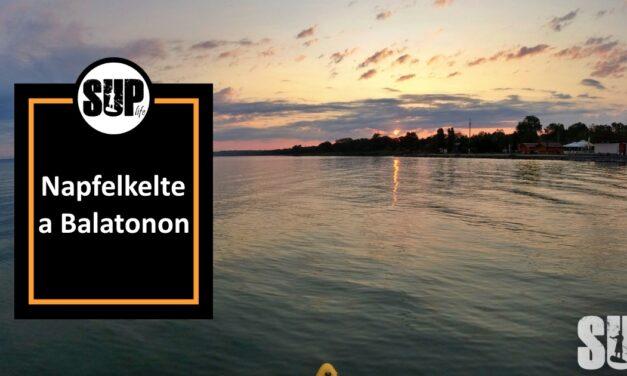 Napfelkelte a Balatonon SUPról